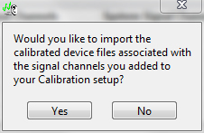 import calibrated devices