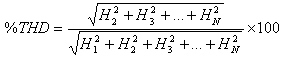 Conventional THD Equation