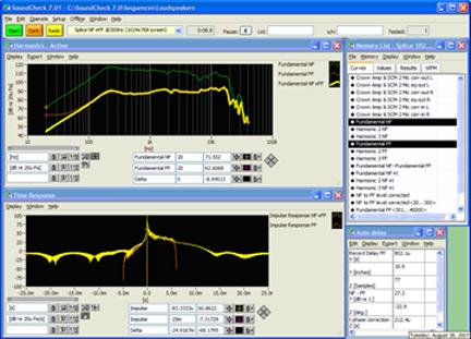 """Speaker test software """"rt-speaker"""" i nti audio."""