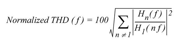Normalized THD Equation