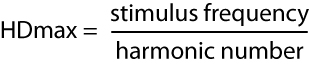 NOrmalized Harminic Distortion Equation