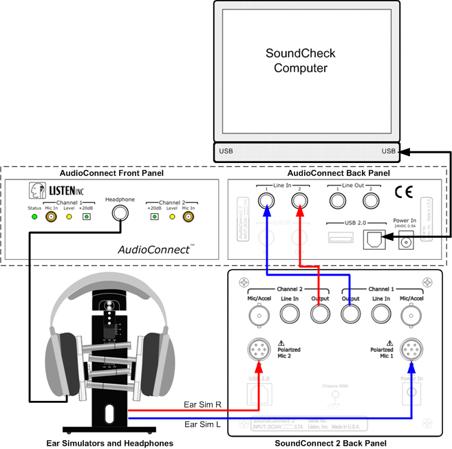 Headphone Test Wiring Diagram